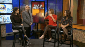 Fox 6 Real Milwaukee Half-Up Hairstyles