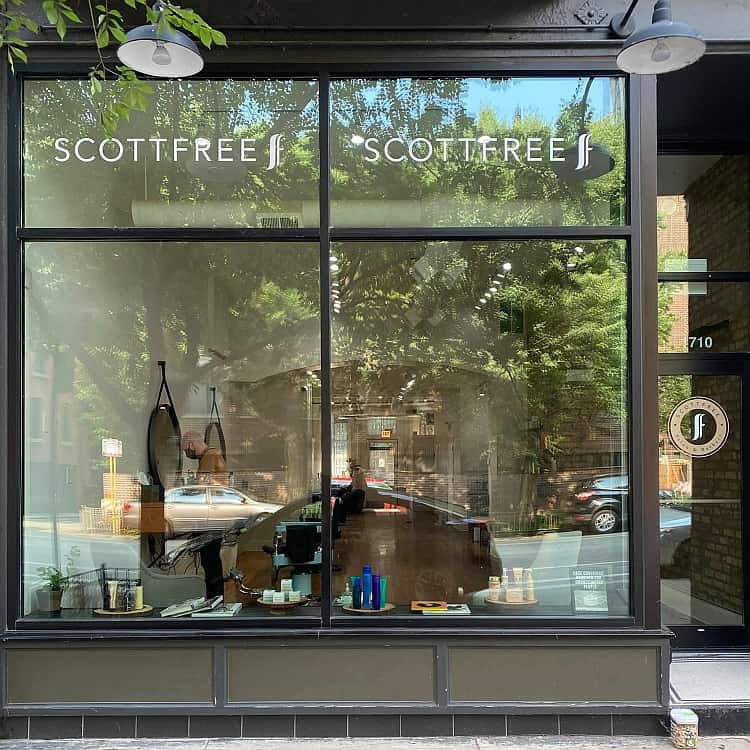 Scottfree Chicago Salon and Barbers storefront