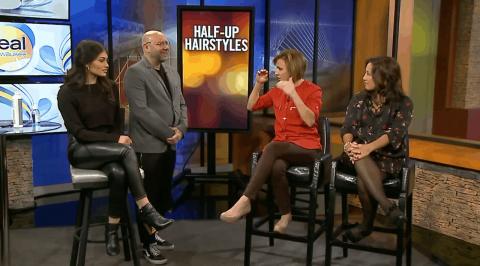 Fox 6 Real Milwaukee Half-Up Hairstyles